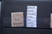FRANCOBOLLI ITALIA COLONIE ERITREA NUOVI** STAMPS ITALY MNH** (A59107)