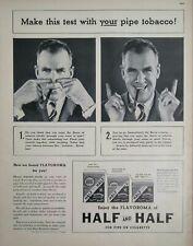 Half and Half Pipe Tobacco Original Vintage Print Ad Advertising 1938 Smoking