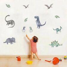 Watercolour Dinosaur Wall Stickers Boys Decal Nursery Art AU