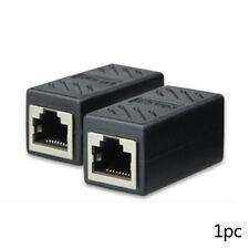 RJ45 Female To Female CAT6 Network Ethernet LAN Connector Adapter Coupler Black