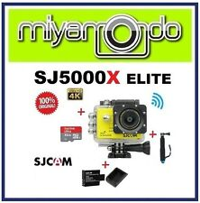 SJCAM SJ5000X WiFi Action Camera (Yellow) + Monopod + 32GB + Battery + Charger