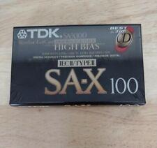 TDK SA-X 100 Blank Cassette Tape High Bias Type II / New & Sealed