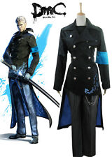 Devil May Cry DMC 5 Vergil Cosplay Costume long coat jacket custom made
