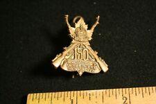 Ww1 Collar Dog Badge Carabiniers Mont Royal Overseas Battalion #150 Original