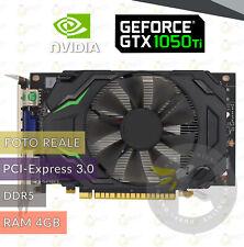 SCHEDA VIDEO 4GB DDR5 GTX1050 Ti HD GRAFICA PCI EXPRESS 3.0 HDMI DVI VGA