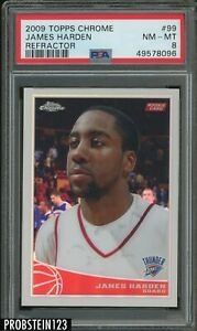 2009-10 Topps Chrome Refractor #99 James Harden RC Rookie /500 PSA 8 NM-MT