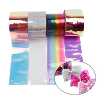 "2yards 3"" Jelly Candy Color Transparent PVC Ribbon DIY Hair Bow Bags Material"