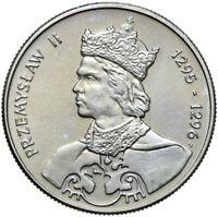 Gedenkmünze Polen - 100 Zlotych 1985 - PRZEMYSLAW II 1295-1296 Stempelglanz UNC