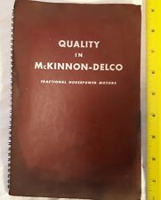 """*RARE CANADIAN (ST. CATHERINES) """"QUALITY IN MCKINNON-DELCO FRACTIONAL HP MOTORS"""""""