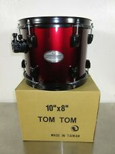 "Pearl Soundcheck Rack Tom - 10 x 8"" - Wine Red w/ Black Hardware"