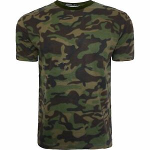 New Mens Boys Military Camouflage Camo T Shirt Summer Top Tee Army Combat Beach