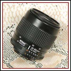 Respected Nikon Digital fit AF 35 80mm D Zoom lens -  See Description for AF