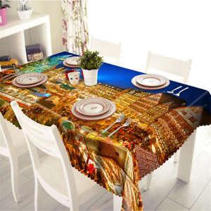 A Splendid City 3D Tablecloth Table cover Cloth Rectangle Wedding Party Banquet