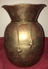 Brass Vase, Made In India ~ Medium Size ~ Tassles