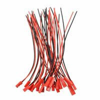 10 Paar 22 AWG 150 mm Kabel mit 2 Pin JST MF Stecker fuer RC-Batterie Motor A7T0