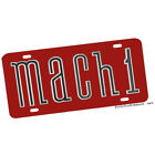 1970's Ford Mustang Mach One Emblem Design Aluminum License Plate