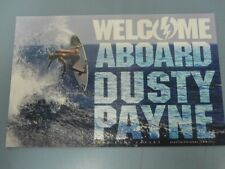 Electric surf skateboard snowboard 2010 Dusty Payne promotional postcard New