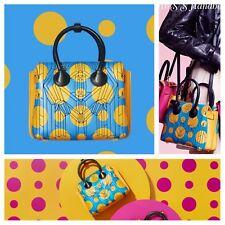 MCM Mini Milla Cosmo Tote Tile Blue Yellow Shoulder Bag Cross-body Handbag
