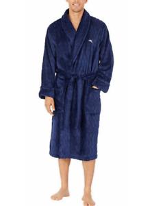 Tommy Bahama Men's Soft Plush Fleece Robe W/ Pockets