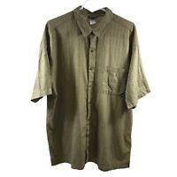 Patagonia Men's Organic Cotton Short Sleeve Buttondown Green Shirt Size XL