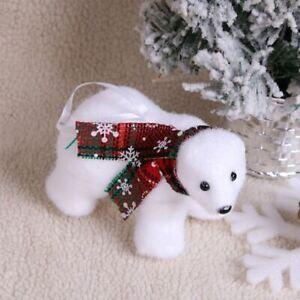 Christmas White Polar Tree Bear Ornament Holiday Decoration Kids Gift Toy New