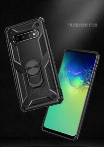 Ring Holder Kickstand Shockproof Armor back Case For Samsung A10, A20E, A70
