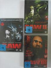 Saw Sammlung Paket - Teil 1, 2, 3 - Danny Glover, Wahlberg - Jigsaw Konvolut