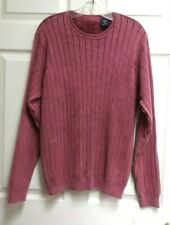 Izod Jeans Red Maroon Ribbed Cotton Crew Neck Long Sleeve Sweater Size M Medium