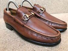 NICE🔥 GUCCI Horsebit Women's Brown leather Slip On Loafers Sz  36.5 C | US 6.5
