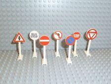 LEGO® City Stadt Town Zubehör 7x Straßenschilder Verkehr Zeichen 649 14 F526