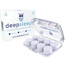Ear Plugs For Sleeping By Deep Sleeps - 4 Pairs - The Best Earplugs for Sleeping