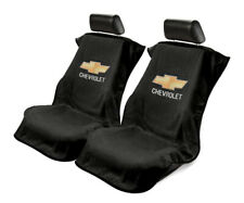 Seat Armour Universal Black Towel Front Seat Covers for Chevrolet -Pair