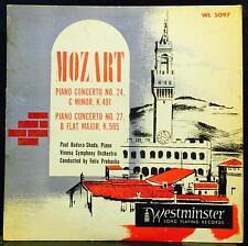 PAUL BADURA SKODA mozart piano concerto 24/27 LP VG+ WL 5097 Westminster 1951