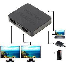 1x2 fach HDMI Splitter Switch Adapter Verteiler 3D TV PC Full HD 1 In 2 Out NEU