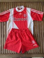 Maillot + Short AS MONACO ancien ADIDAS enfant 12 ans football vintage shirt