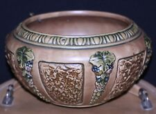 """vintage 1924 Roseville Art Pottery Florentine Hanging planter 337-7 """"R"""" mark"""