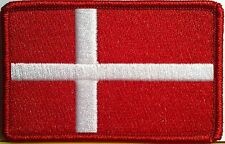DENMARK Flag Military Patch With VELCRO® Brand Fastener Red Emblem #56