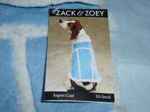 DOG/Pet  ASPEN COAT  by Zack & Zoey   size XXSmall  NWT  alpine blue