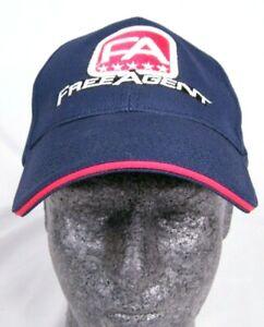Free Agent World Team Bmx Blue Baseball Hat Cap Flexfit Adult size Large