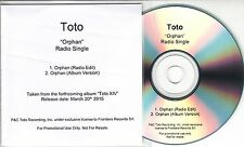 TOTO Orphan 2015 UK 2-track radio promo CD