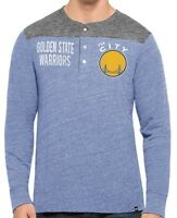 NBA Golden State Warriors '47 Brand 2XL Men's Henley Long Sleeve Thermal Tee NWT