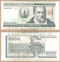 Italy Venice 5000 Lire 2014 UNC SPECIMEN Hologram Test Note Banknote Marco Polo