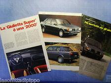QUATTROR981-RITAGLIO/CLIPPING/NEWS-1981- ALFA ROMEO GIULIETTA SUPER -3 fogli