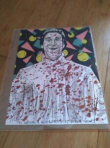 BAM! American Psycho Patrick Bateman 8x10 Fan Art Print #17/500 Signed by Artist