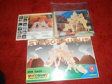 Three woodcraft construction kits - Styracosaurus & 2 * Stegosaurus