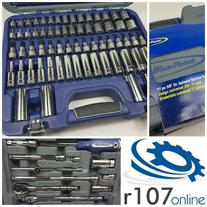 "Blue Point 77pc 3/8"" Socket Set, Incl VAT, As sold by Snap On."