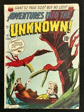 """ADVENTURES INTO THE UNKNOWN #17 SOLID VG+ 1951 WHITNEY DINO COV. """"THING"""" MOVIE"""