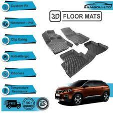 3D Molded Interior Car Floor Mat for Peugeot 3008 2016-UP(Black)