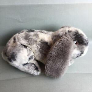 Teddy Hermann  Original Grey  White Plush Baby Bunny Rabbit 10''