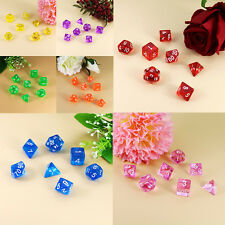 Random Hot 7pcs/set 20-Sided Digital Game Dice Fun Role Playing Games Toys